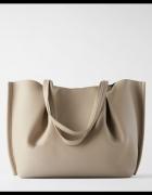Beżowa torba shopper ZARA NOWA...
