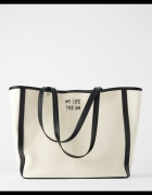 Płócienna torba shopper ZARA