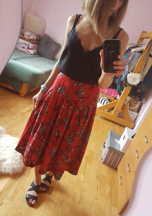 Spódnice Czerwona spódnica Midi 42 44