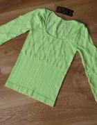 Bluzka neon 36 38 S M zieleń limonka...