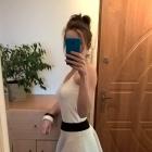 Świetna dwuwarstwowa biała spódnica