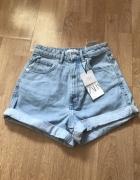 Nowe z metka spodenki zara jeansowe rozmiar 34 mom fit...