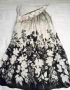 sukienka luzny krój na jedno ramię