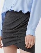 Spódnica drapowana s xs grafit...