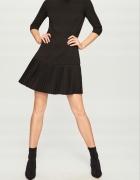 Czarna sukienka z plisą...
