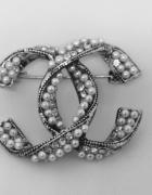 Broszka cc perły cyrkonie...