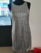 Sukienka cekiny srebrna r 40...