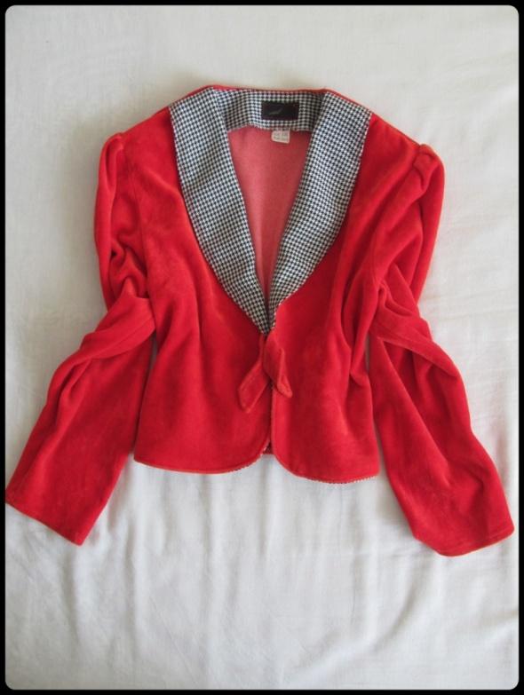 Czerwony elegancki żakiet narzutka dla dziewczynki rozmiar 146
