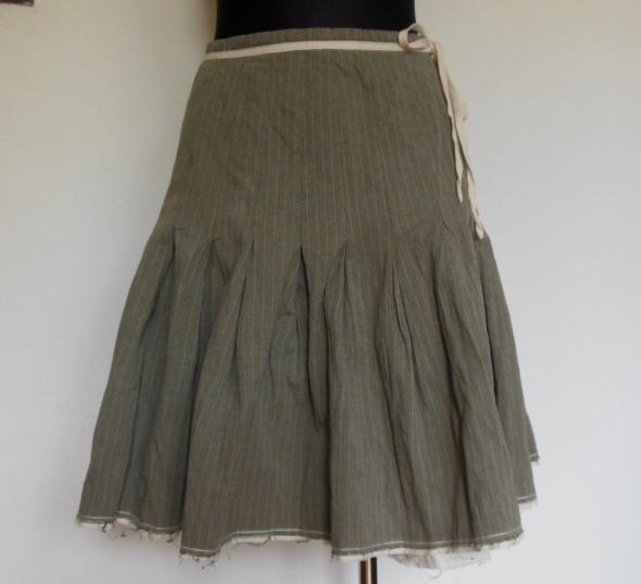 IKKS spódnica rozkloszowana plisowana beżowa 38