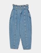 ZARA jeansy slouchy z ozdobnym paskiem 38 M nowe...