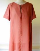 Sukienka Cubus Ceglasta S 36 Oversize Luzna Rozporki...