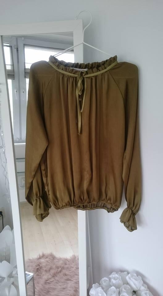 Elegancka bluzka khaki