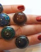 Malowane pierścionki etno