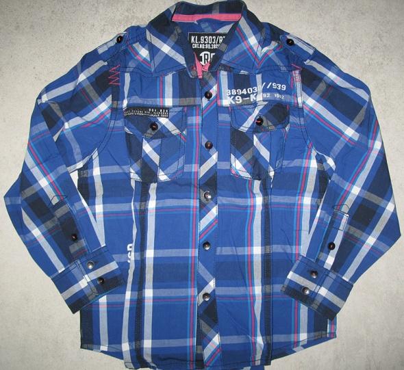 NEXT niebieska bluzka koszula chłopięca w kratkę roz 128