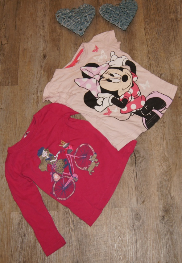 Zestaw dziewczynka bluzki Myszka Minnie rozm 98