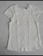 Koszulka bluzeczka z koronkowymi rękawami H&M 38 M...