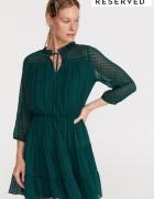 Sukienka Reserved zielona plumeti S 36...