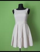 FIGL sukienka kontrafałdy elegancka stan idealny 36 S...