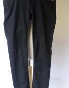 Spodnie Czarne 28 34 S 36 Rurki Tommy Hilfiger Czerń TH...