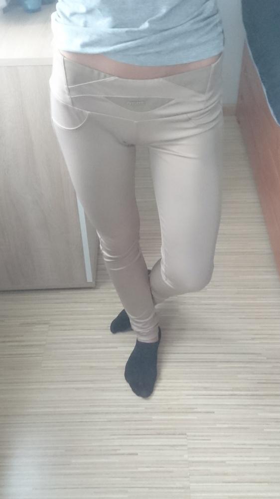 legginsy beżowe