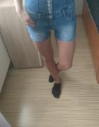 Jeansowe krótkie spodenki wysoki stan