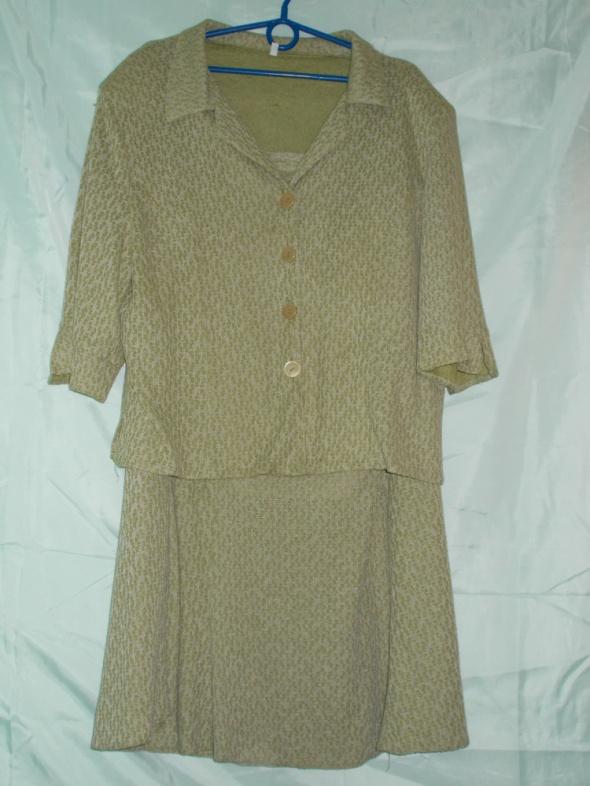 Komplet kostium garsonka sukienkabluzkaspódnicażakiet 48 50 52