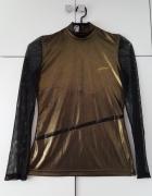 Złota bluzka vintage Love Moschino...