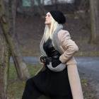 Czarna plisowana spódnica maxi vintage