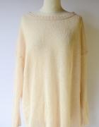 Sweter L 40 Gina Tricot Morelowy Oversize Ażurowy...