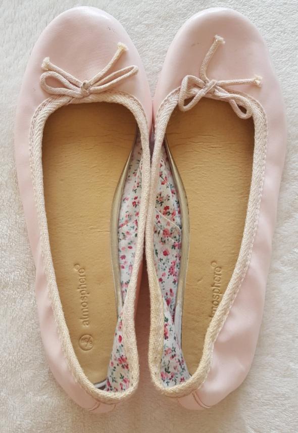 Różowe balerinki Atmosphere Primark 6 39 płaskie buty baleriny