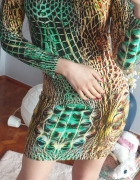 Sukienka projektant Mimka wąż wzór...