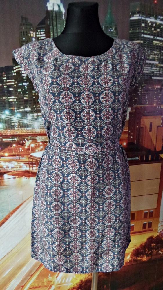pepe jeans london sukienka serduszka wzory 34