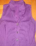Tunika sukienka fioletowa w paski M...