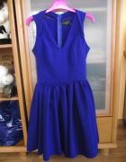 Sukienka chabrowa wesele studniówka 36 S...