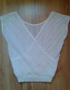 Bluzka biała ażurowa 36 S...