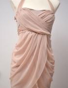 Sukienka pudrowy róż 36 S