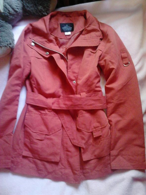 Płaszcz czerwony pomarańczowy xs s 34 36