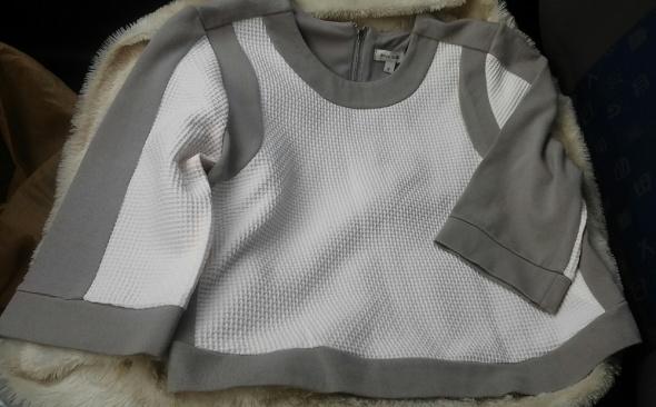 Bluzy Bluza szara biała river island xs 34 zip nowa