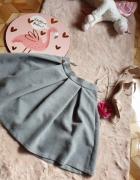 Szara spódnica rozkloszowana XS...