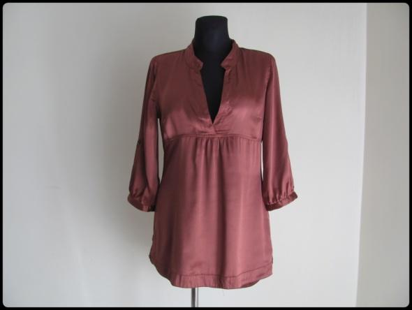 Koszula tunika w rdzawym kolorze Vero Moda 38 M asymetryczna