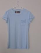 bluzka light blue z kieszonką...