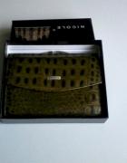 Nowy zielony skórzany portfel...