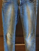 Jeansy spodnie zwężane rurki slim M 38 Stradivarius...
