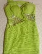 Sukienka zielona cekiny rozm 40 Karnawał Bal Impreza Wesele...