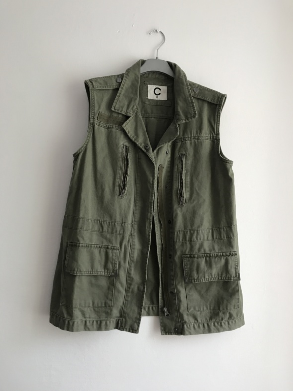 Kamizelki Kamizelka khaki zielona militarna M oversize Cubus