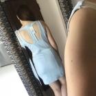 Pastelowa sukienka baby blue niebieska wycięcia wstawki M