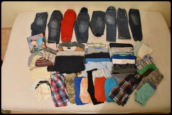 Zestaw ubrań dla maluszka rozmiar 80 około 50 sztuk