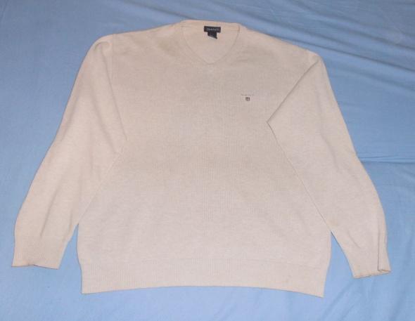 Sweter w serek beżowy Gant M...