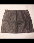 Skórzana spódnica Zara plecionka...