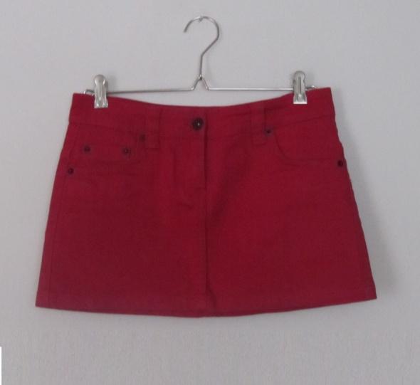 Spódnice bordowa mini jeansowa